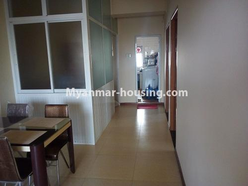 Myanmar real estate - for sale property - No.3432 - 2 BHK China Town Condo room for sale in Lanmadaw! - corridor and storage view