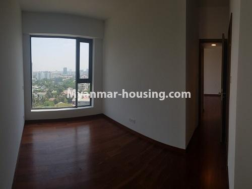 Myanmar real estate - for sale property - No.3441 - 2BHK Room in The Central Condominium for sale in Yankin! - living room view