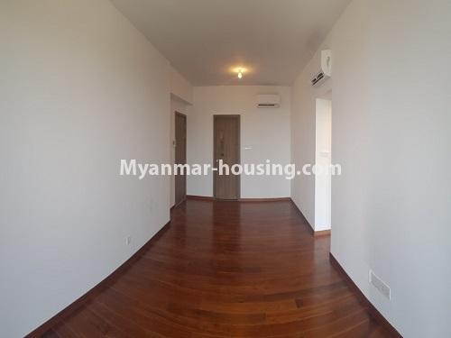 Myanmar real estate - for sale property - No.3441 - 2BHK Room in The Central Condominium for sale in Yankin! - another view of living room
