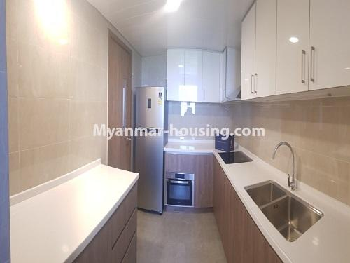 Myanmar real estate - for sale property - No.3441 - 2BHK Room in The Central Condominium for sale in Yankin! - kitchen view