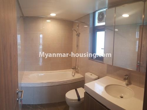 Myanmar real estate - for sale property - No.3441 - 2BHK Room in The Central Condominium for sale in Yankin! - another bathroom view