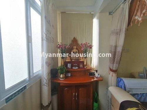 Myanmar real estate - for sale property - No.3442 - Decorated condominium room, fifth floor for sale in Sanchaung! - shrine view