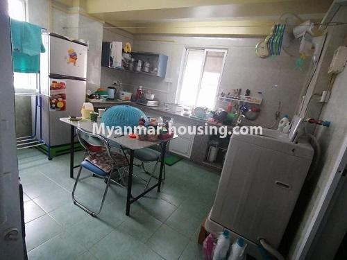 Myanmar real estate - for sale property - No.3442 - Decorated condominium room, fifth floor for sale in Sanchaung! - kitchen view