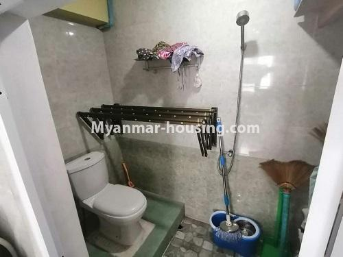 Myanmar real estate - for sale property - No.3442 - Decorated condominium room, fifth floor for sale in Sanchaung! - bathroom view
