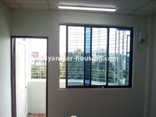Myanmar real estate - for sale property - No.3455 - Fourth floor 3BHK Apartment room for sale near Laydaunkkan Road, Thin Gann Gyun! - front area view