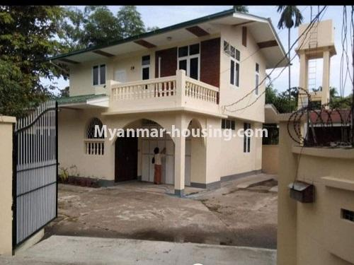 Myanmar real estate - for sale property - No.3456 - 4090 sq.ft land with two storey  house for sale, 7 Mile, Mayangone! - house view