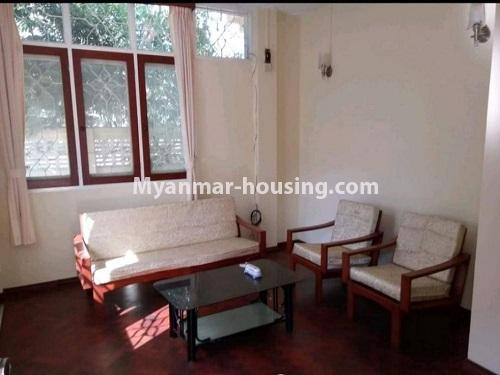 Myanmar real estate - for sale property - No.3456 - 4090 sq.ft land with two storey  house for sale, 7 Mile, Mayangone! - living room ivew