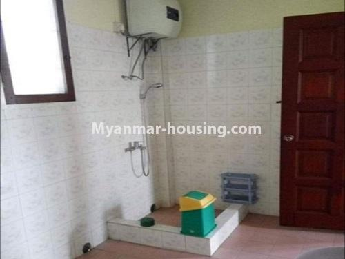 Myanmar real estate - for sale property - No.3456 - 4090 sq.ft land with two storey  house for sale, 7 Mile, Mayangone! - bathroom view