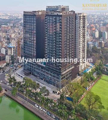 ミャンマー不動産 - 売り物件 - No.3457 - Kan Thar Yar Residential Condominium room for sale near Kan Daw Gyi Park! - building view