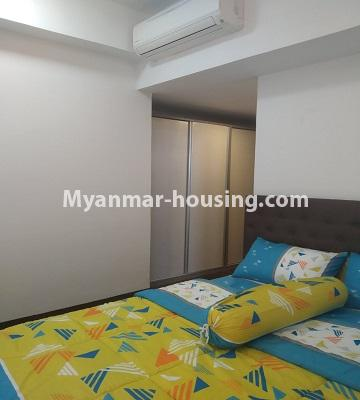 ミャンマー不動産 - 売り物件 - No.3457 - Kan Thar Yar Residential Condominium room for sale near Kan Daw Gyi Park! - bedroom view