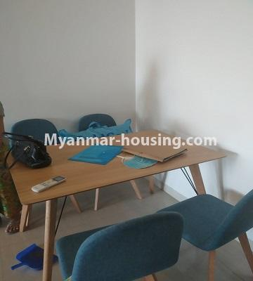 ミャンマー不動産 - 売り物件 - No.3457 - Kan Thar Yar Residential Condominium room for sale near Kan Daw Gyi Park! - dining area view