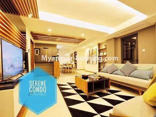 မြန်မာအိမ်ခြံမြေ - ရောင်းမည် property - No.3461 - အဆင့်မြင့်ပြင်ဆင်ထားသည့် အခန်းကျယ်တစ်ခန်း တောင်ဥက္ကလာ Serene ကွန်ဒိုအခန်း ရောင်းရန်ရှိသည်။ - another view of living room
