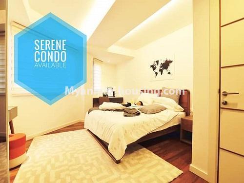 မြန်မာအိမ်ခြံမြေ - ရောင်းမည် property - No.3461 - အဆင့်မြင့်ပြင်ဆင်ထားသည့် အခန်းကျယ်တစ်ခန်း တောင်ဥက္ကလာ Serene ကွန်ဒိုအခန်း ရောင်းရန်ရှိသည်။ - bedroom view