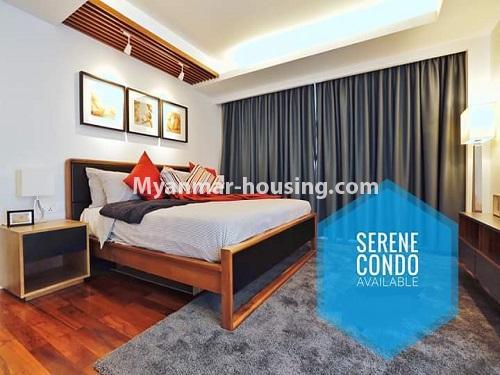 မြန်မာအိမ်ခြံမြေ - ရောင်းမည် property - No.3461 - အဆင့်မြင့်ပြင်ဆင်ထားသည့် အခန်းကျယ်တစ်ခန်း တောင်ဥက္ကလာ Serene ကွန်ဒိုအခန်း ရောင်းရန်ရှိသည်။ - another bedroom view