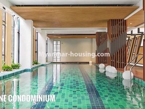 မြန်မာအိမ်ခြံမြေ - ရောင်းမည် property - No.3461 - အဆင့်မြင့်ပြင်ဆင်ထားသည့် အခန်းကျယ်တစ်ခန်း တောင်ဥက္ကလာ Serene ကွန်ဒိုအခန်း ရောင်းရန်ရှိသည်။ - swimming pool view