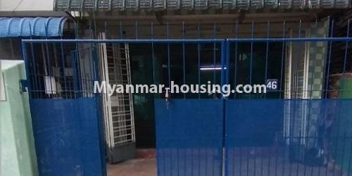 မြန်မာအိမ်ခြံမြေ - ရောင်းမည် property - No.3469 - စမ်းချောင်းတွင် မြေညီထပ်နှင့် ပထမထပ် ရောင်းရန်ရှိသည်။ - front view of ground floor
